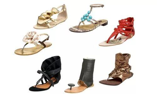 Модные босоножки без каблука